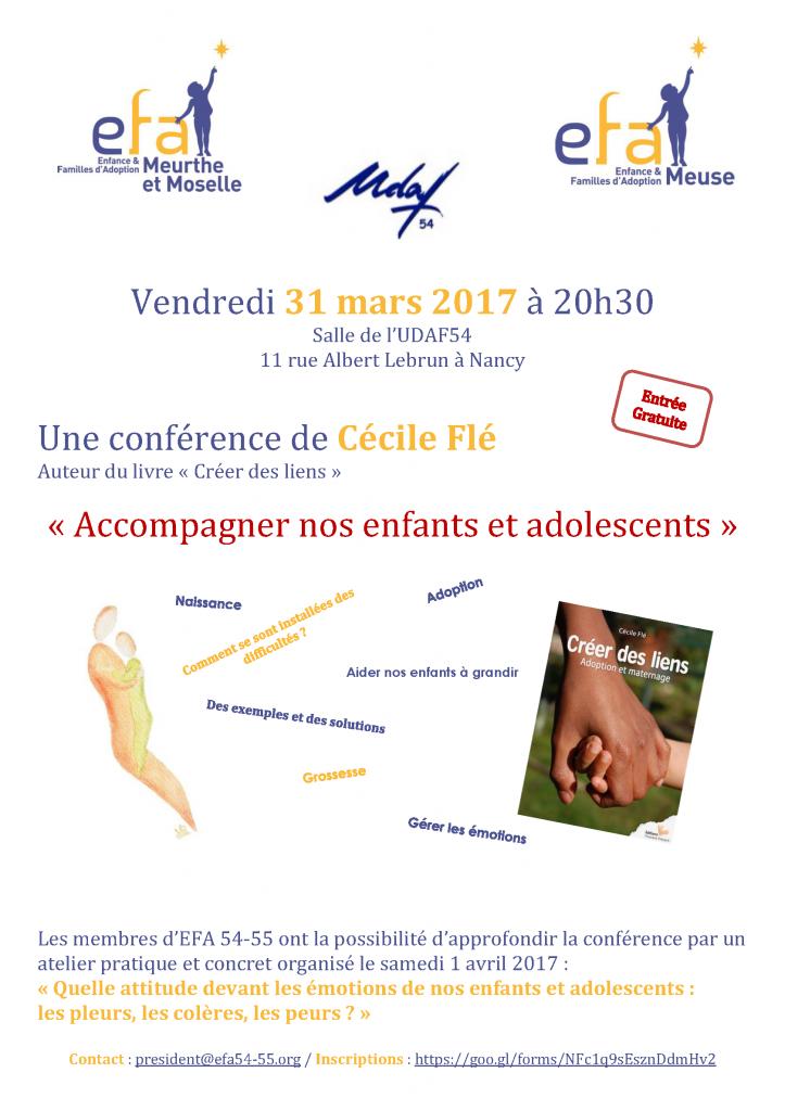 Cécile Flé – Accompagner nos enfants et adolescents @ UDAF 54 | Nancy | Grand Est | France